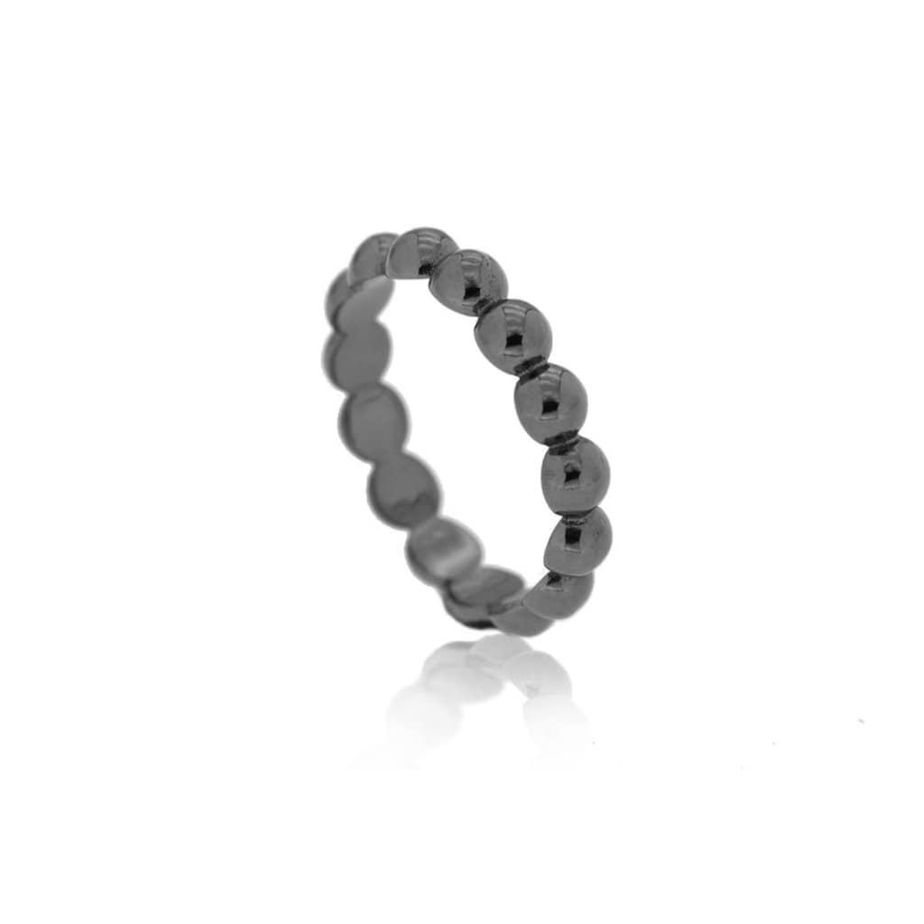 JULES & GENTS Fingerring »Connecting Beads Schwarz«