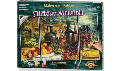 Schipper Malen nach Zahlen »Meisterklasse Triptychon - Stillleben mit Weintrauben«,... kaufen