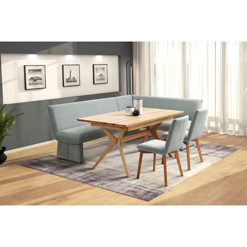 Premium collection by Home affaire Eckbank »London«, mit Wellenunterfederung im Sitz, langer Schenkel Breite 240 cm
