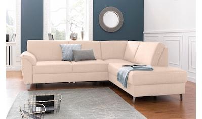 sit&more Ecksofa, mit Federkern, wahlweise mit Bettfunktion und Bettkasten kaufen