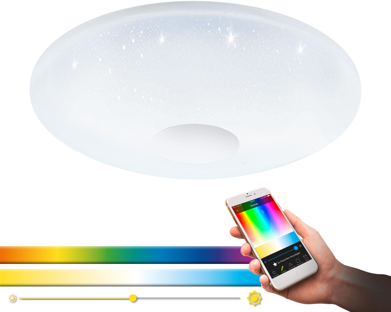 EGLO LED Deckenleuchte VOLTAGO-C, LED-Board, Neutralweiß-Tageslichtweiß-Warmweiß-Kaltweiß, EGLO CONNECT, Steuerung über APP + Fernbedienung, BLE, CCT, RGB