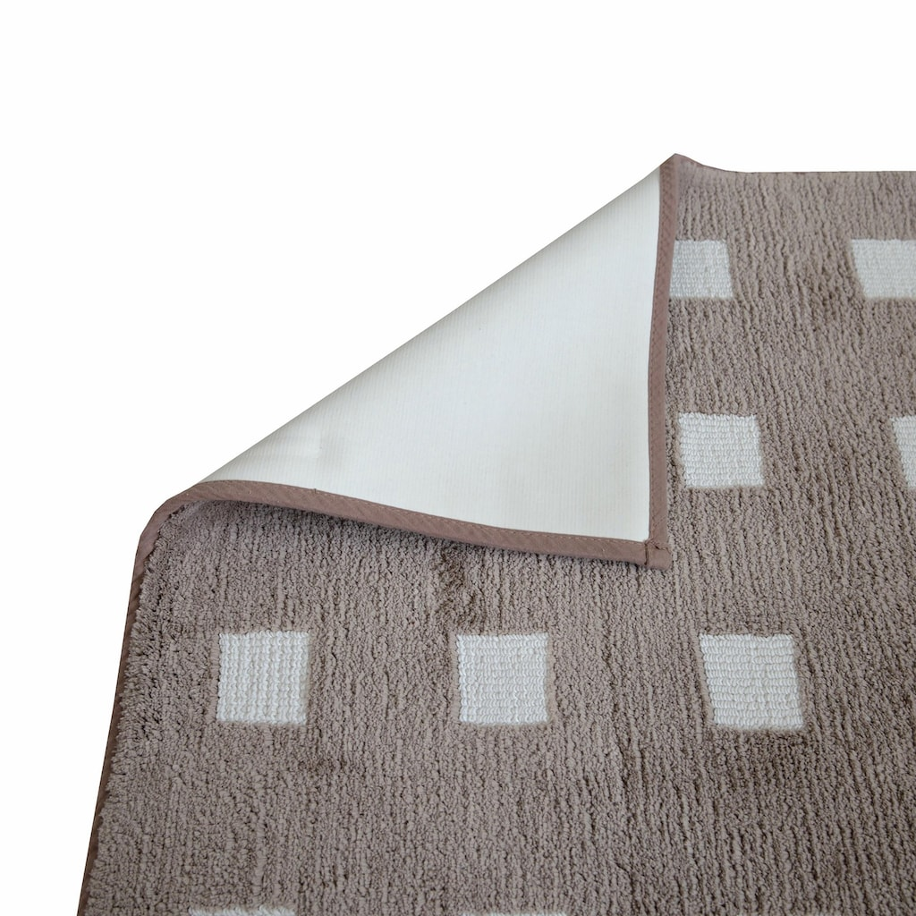 Dyckhoff Badematte »Karo«, Höhe 13 mm, rutschhemmend beschichtet, fußbodenheizungsgeeignet