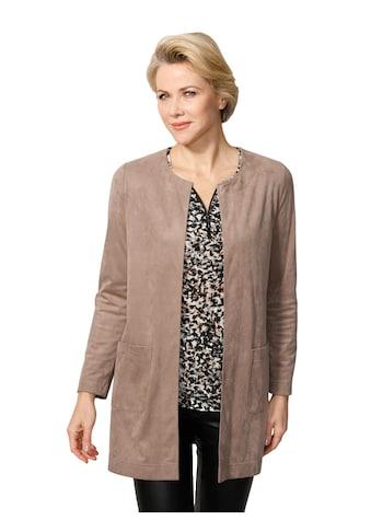 Mona Lederimitat-Blazer, aus Velourslederimitat kaufen