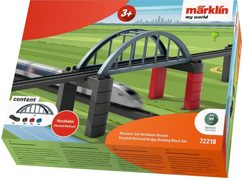 Märklin Modelleisenbahn-Hochbahn my world - Baustein-Set Hochbahn-Brücke 72218 bunt Kinder Schienen Zubehör Modelleisenbahnen Autos, Eisenbahn Modellbau Modelleisenbahn-Erweiterungen