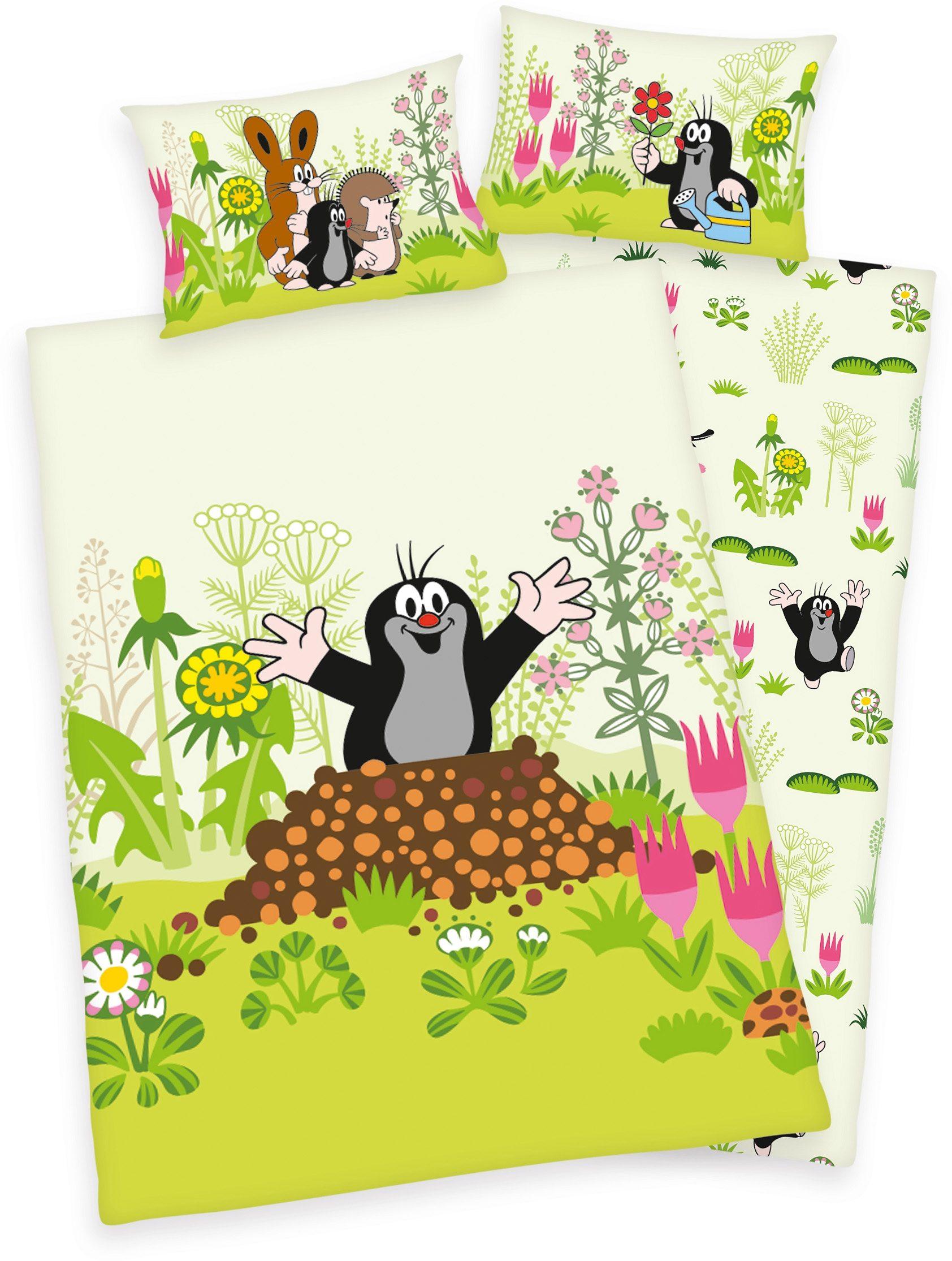 Kinderbettwäsche Der kleine Maulwurf Diverse | Kinderzimmer > Textilien für Kinder > Kinderbettwäsche | Grün | Baumwolle | Diverse