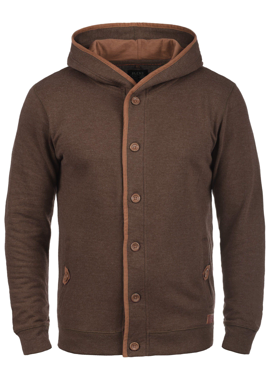 Blend Kapuzensweatjacke Alesso | Bekleidung > Sweatshirts & -jacken | Braun | Fleece | Blend