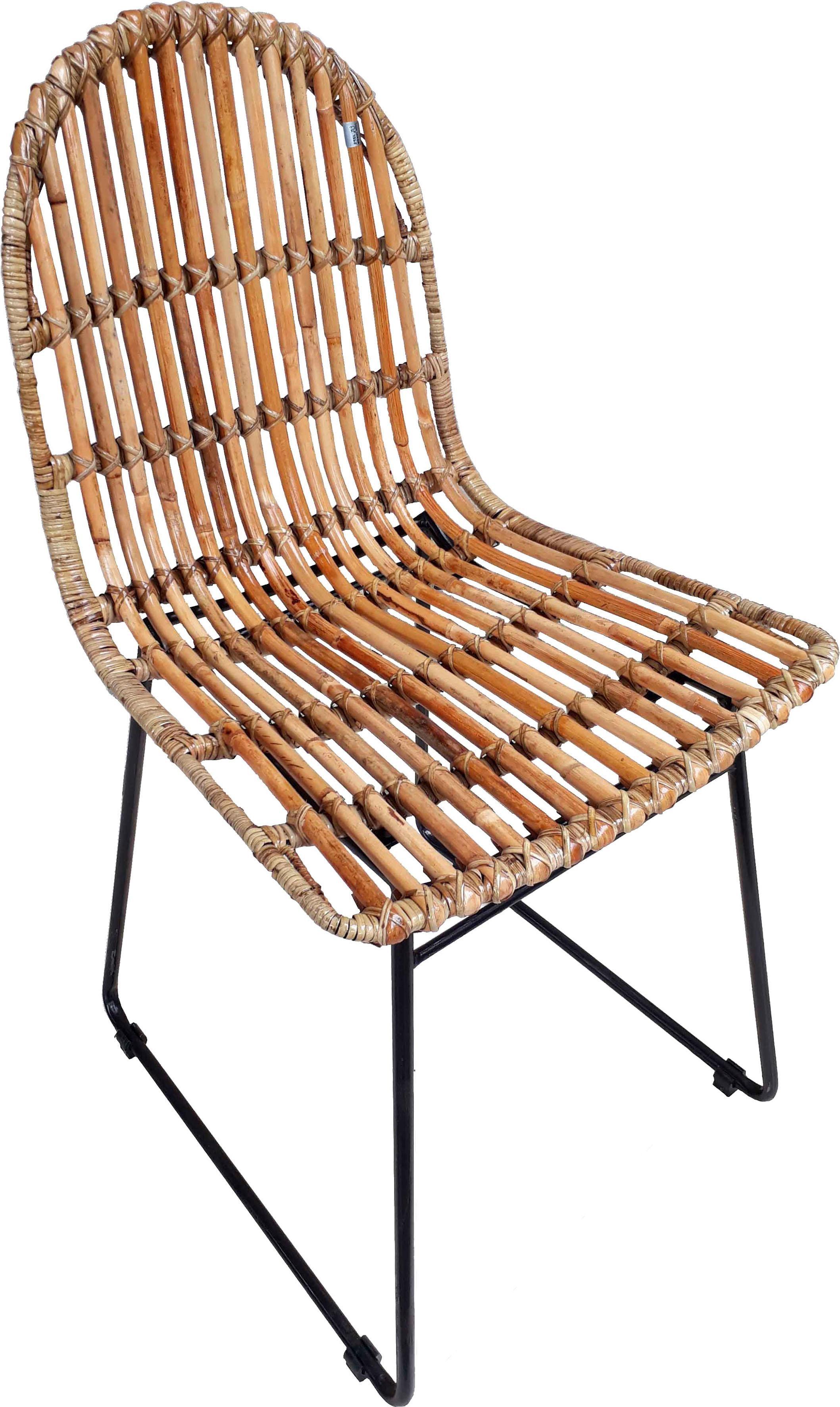 SIT Rattanstuhl Rattan Vintage, im 2er-Set, Shabby Chic, Vintage beige 4-Fuß-Stühle Stühle Sitzbänke