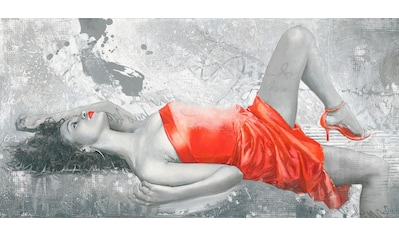 my home Deco-Panel »ENRICO SESTILLO / Lady in red«, 100/50 cm kaufen