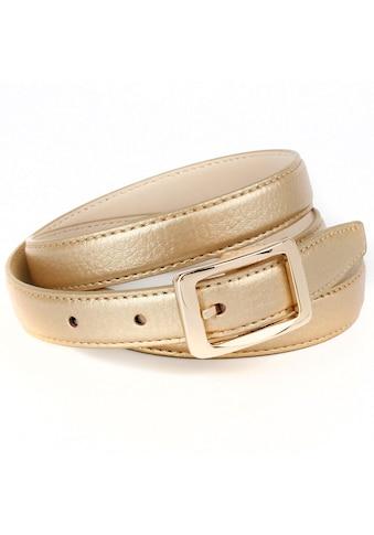 Anthoni Crown Ledergürtel, in Hirschprägung mit goldfarbener Schließe kaufen