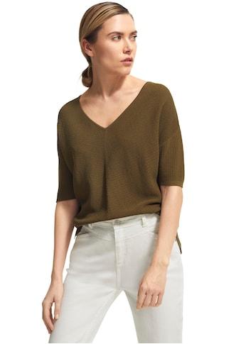 Comma 3/4 Arm-Pullover, mit gerippter Struktur kaufen