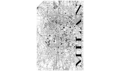 Artland Wandbild »Mailand Karte Straßen Karte« kaufen