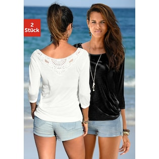 746b5189f12952 Beachtime Shirts (2 Stück) mit Spitzendetail am Rücken
