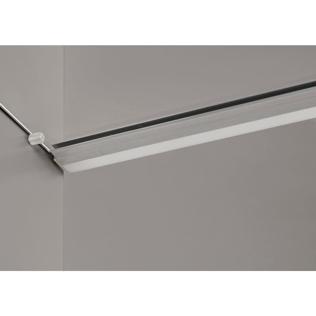 GWINNER Vitrine »SOLANO«, Lack fango, wahlweise mit Beleuchtung und Türanschlag rechts oder links, Höhe 196,9 cm