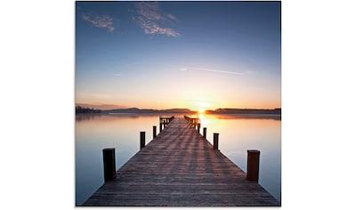 Artland Glasbild »Sonnenstrahlen - Sonnenuntergang«, Gewässer, (1 St.) kaufen