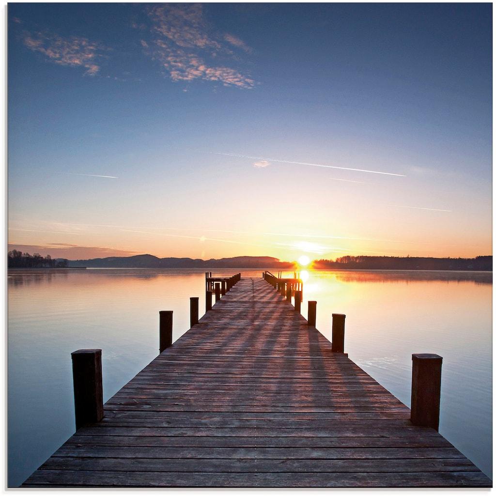 Artland Glasbild »Sonnenstrahlen - Sonnenuntergang«, Gewässer, (1 St.)