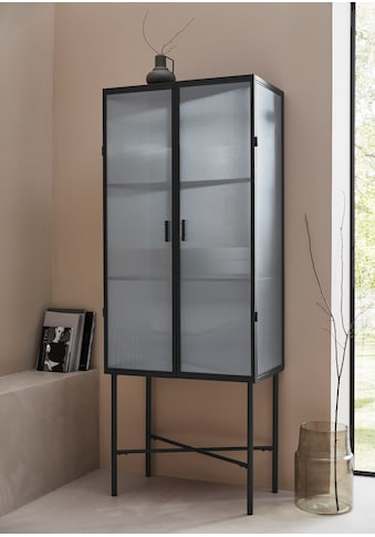 LeGer Home by Lena Gercke Vitrine »Almira«, Zeitloses Design, Türen mit Riffelglas, in 2 Farben erhältlich kaufen