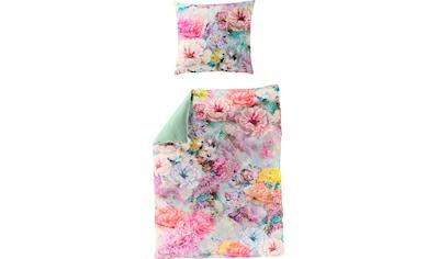 BIERBAUM Wendebettwäsche »Colorful Flowers«, mit floralem Digitalprint kaufen
