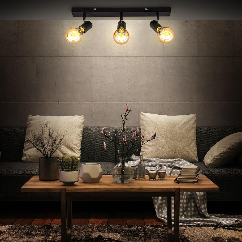 B.K.Licht Deckenspots, E27, 1 St., schwenkbare vintage Deckenleuchte, 3-flammige retro Deckenlampe, max.60W E27, Landhausstil, Deckenstrahler, ohne Leuchtmittel