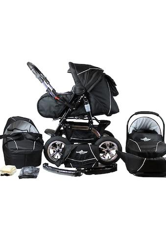 bergsteiger Kombi-Kinderwagen »Milano, black edition, 3in1«, 15 kg, Made in Europe kaufen
