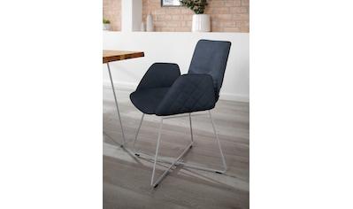W.SCHILLIG Armlehnstuhl »lotta«, mit Rücken- & Seitenteilsteppung, Drahtrohrgestell in Silber matt kaufen