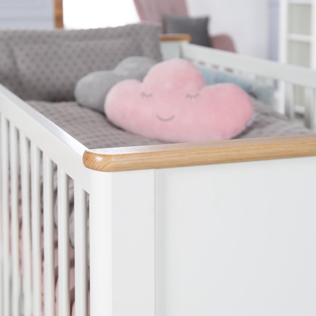 roba® Babyzimmer-Komplettset »Ava«, (Set, 3 St.), mit Kinderbett, Wickelkommode und Kleiderschrank; Made in Europe