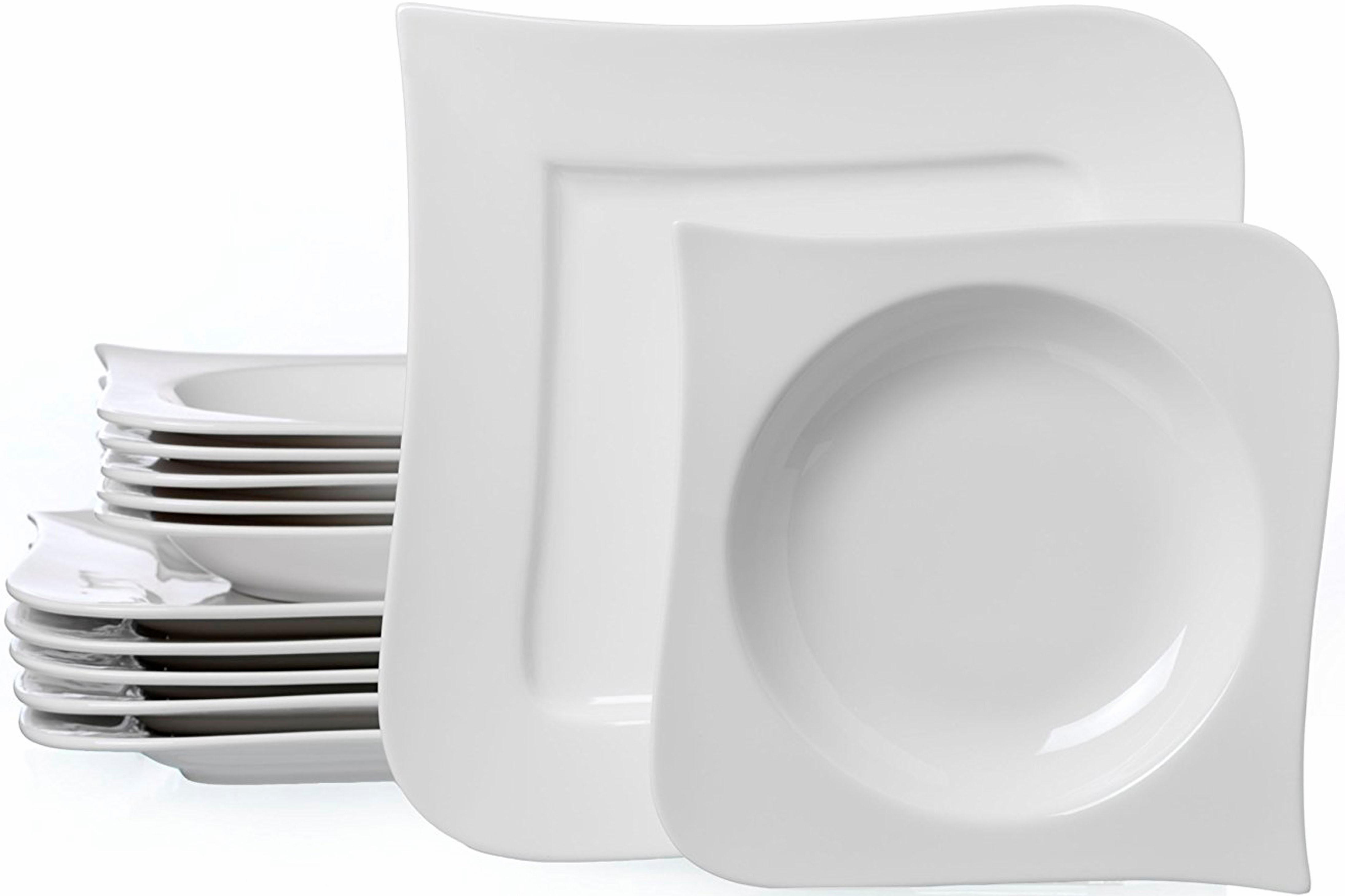 Ritzenhoff & Breker Tafelservice Melodie, (Set, 12 tlg.), Spülmaschinengeeignet weiß Geschirr-Sets Geschirr, Porzellan Tischaccessoires Haushaltswaren