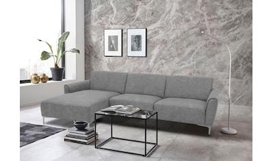 Places of Style Ecksofa »Akron«, modernes Design, in 2 Bezugsqualitäten kaufen