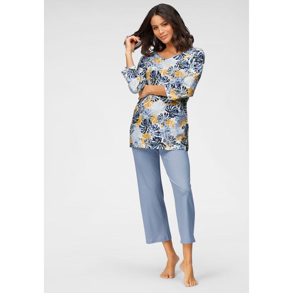 Cybèle Pyjama, mit Blätterprint