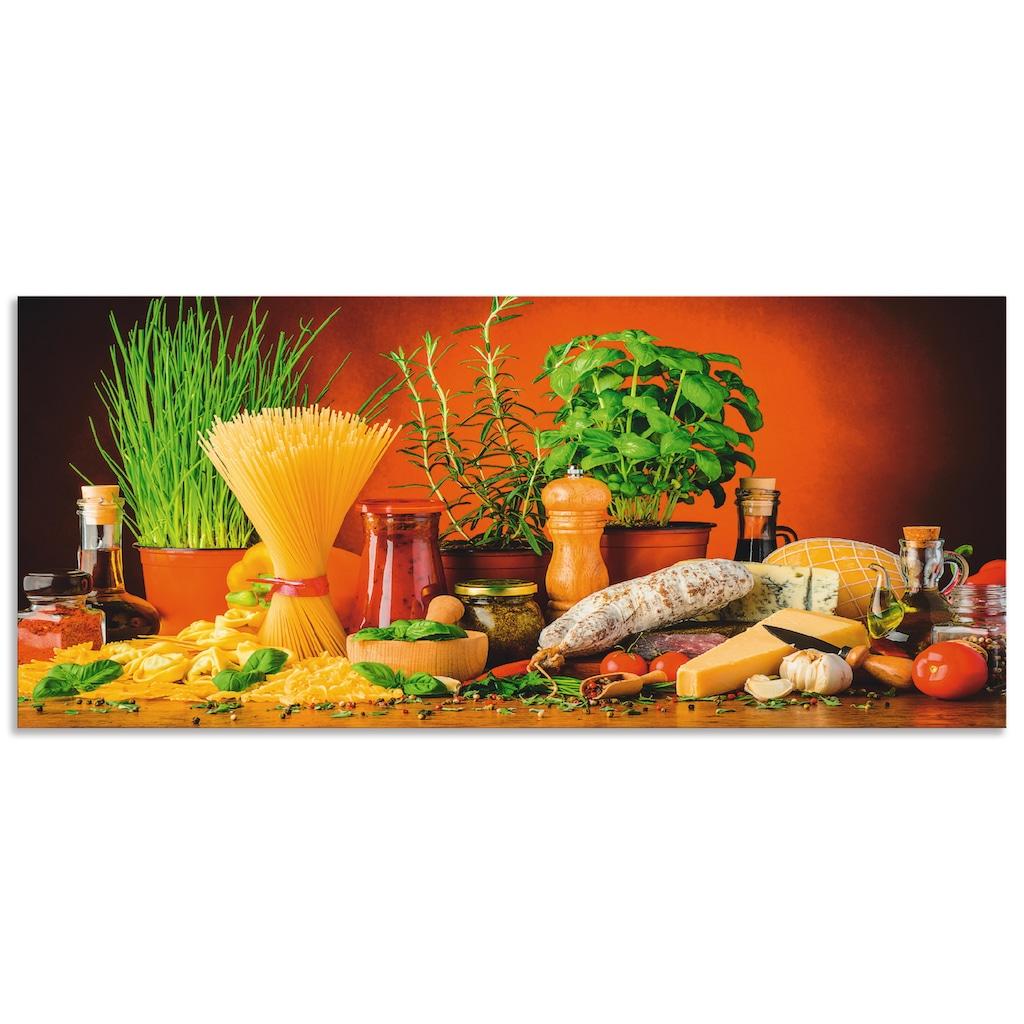 Artland Küchenrückwand »Mediterranes und italienisches Essen«