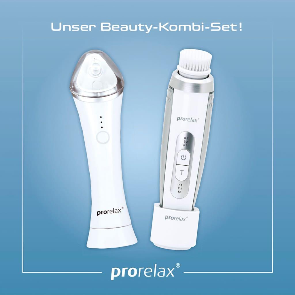 prorelax Elektrische Gesichtsreinigungsbürste, Gesichts-Pflege-Set, 1 x Schall-Gesichtsbürste, 1 x Vakuum-Porenreiniger