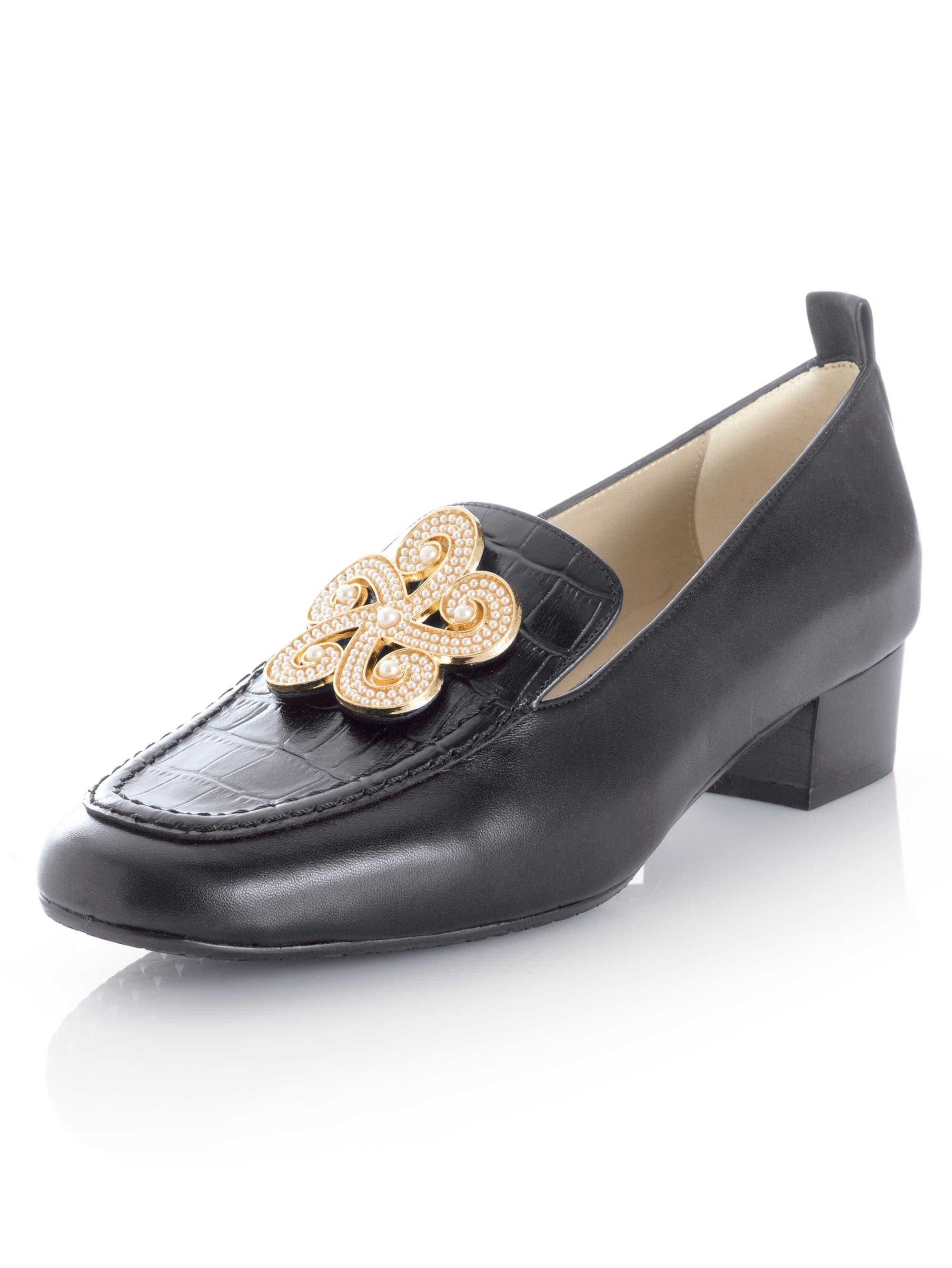 alba moda -  Loafer, aus hochwertigem Lammleder