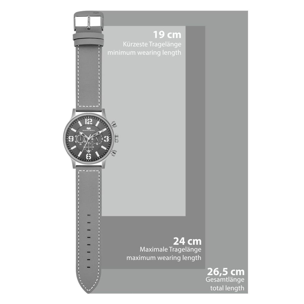 Rhodenwald & Söhne Chronograph »RWS011«, (1 tlg.), Armband aus Echtleder