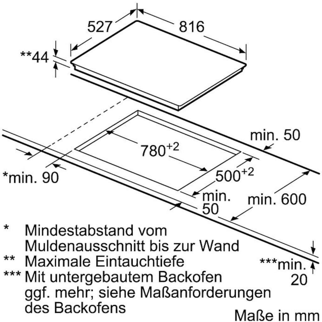 BOSCH Elektro-Kochfeld von SCHOTT CERAN®, PKM875DP1D, mit Powerboost-Funktion