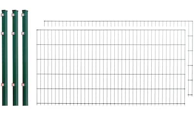 Doppelstabmattenzaun , 2 Stk., LxH: 4x1 m, grün kaufen