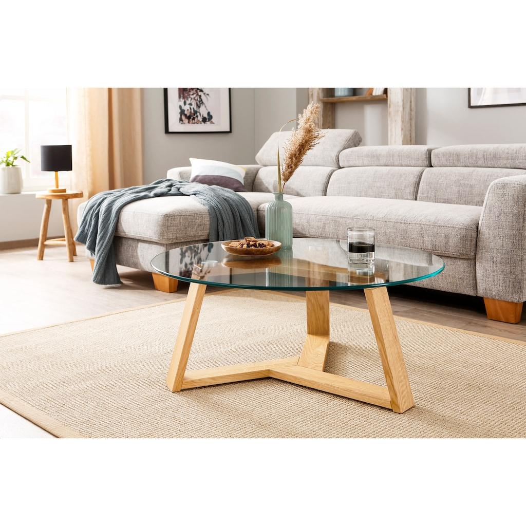 Premium collection by Home affaire Couchtisch »Mantua«, Durchmesser Glastischplatte: 90 cm