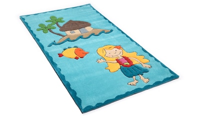 THEKO Kinderteppich »Lisa«, rechteckig, 14 mm Höhe, Kurzflor, hochwertiges Acrylgarn, handgearbeiteter Reliefschnitt (Carving) kaufen