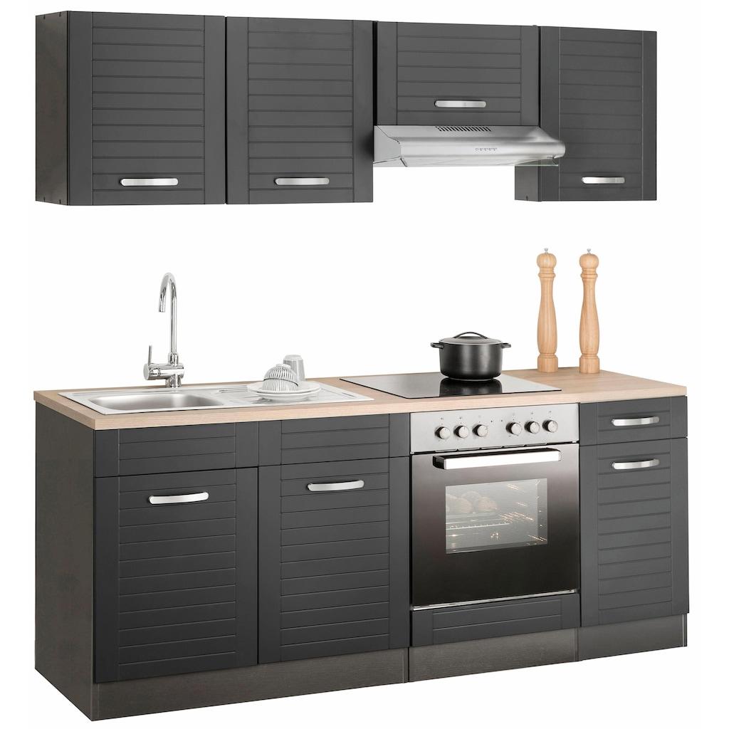 HELD MÖBEL Küchenzeile »Falun«, ohne E-Geräte, Breite 210 cm