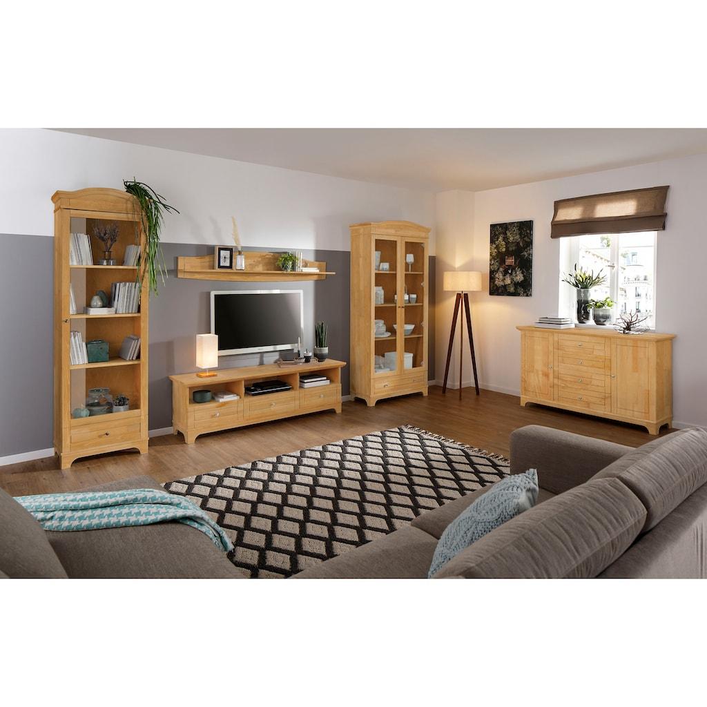 Home affaire Lowboard »Novara«, aus Kiefer massiv, Breite 167 cm