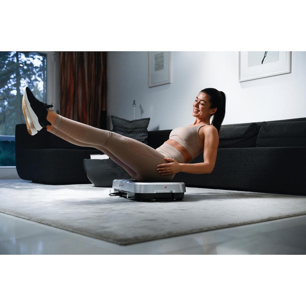 Christopeit Sport® Vibrationsplatte »Vibro 3000«, 300 W, mit Transportrollen und ausziehbaren Griff