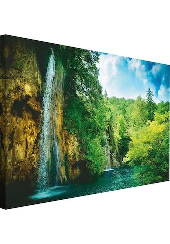 Reinders! Wandbild »Wasserfall am See« kaufen