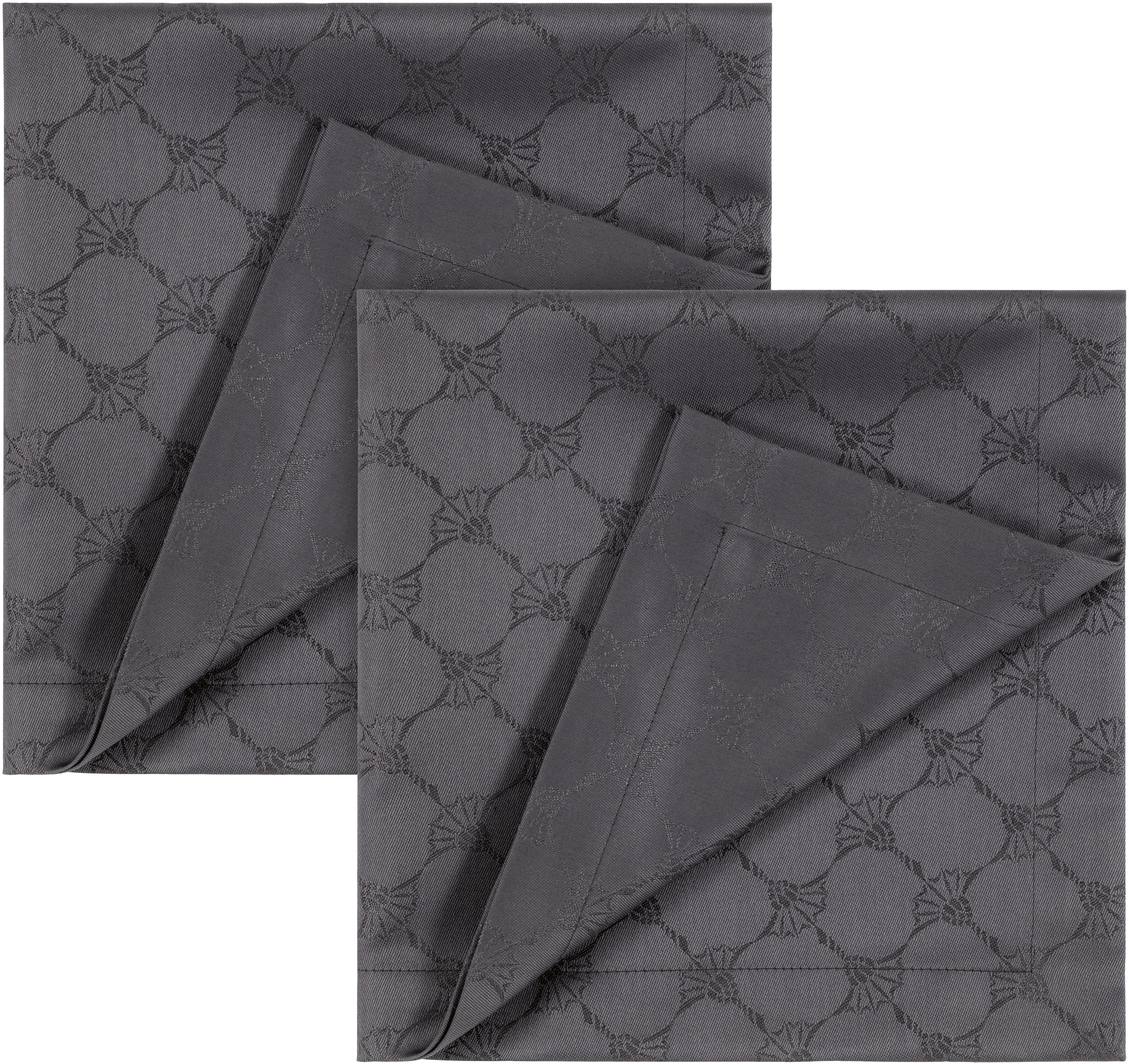 Joop! Joop Stoffserviette CORNFLOWER ALLOVER, (Set, 2 St.), Aus Jacquard-Gewebe gerfertigt mit Kornblumen-Allover-Muster grau Stoffservietten Tischwäsche
