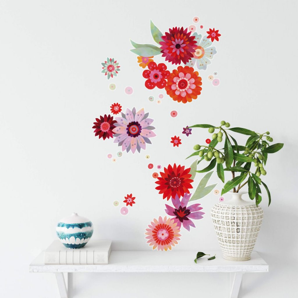 Wall-Art Wandtattoo »Märchenhaft Blütentraum«