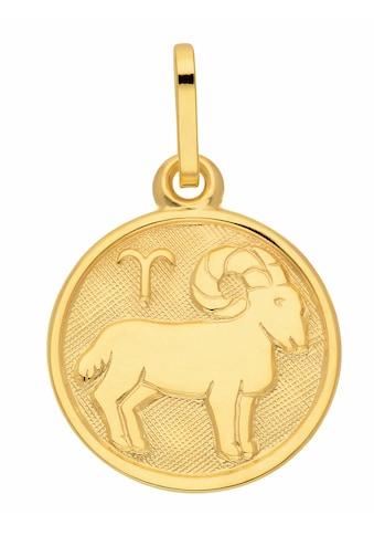 Adelia´s Kettenanhänger »333 Gold Sternzeichen Anhänger Widder Ø 11,8 mm«, Goldschmuck für Damen & Herren kaufen