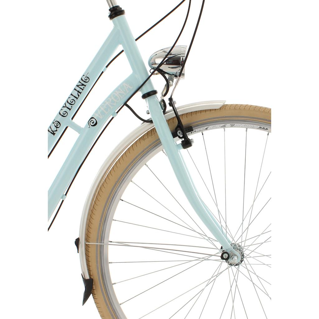 KS Cycling Cityrad »Verona«, 6 Gang, Shimano, Tourney Schaltwerk, Kettenschaltung, (mit Doppeltasche)