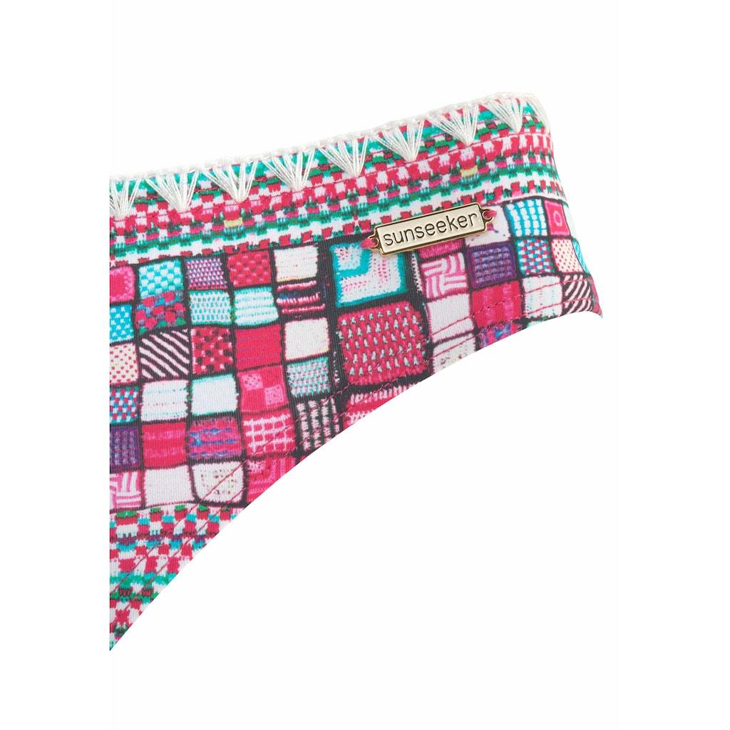 Sunseeker Bügel-Bandeau-Bikini, mit modernem Print