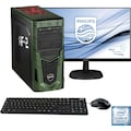 Hyrican »Military Gaming 6482 + Philips 273V7Q« PC-Komplettsystem (Intel, Core i5, GeForce)