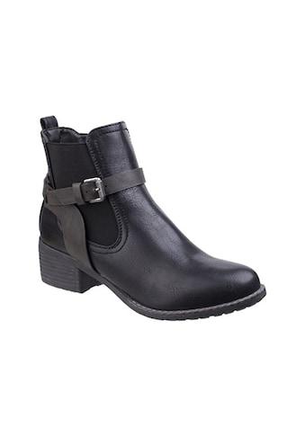 Divaz Ankleboots »Womens/Damen Ivana Block Heel Stiefel« kaufen