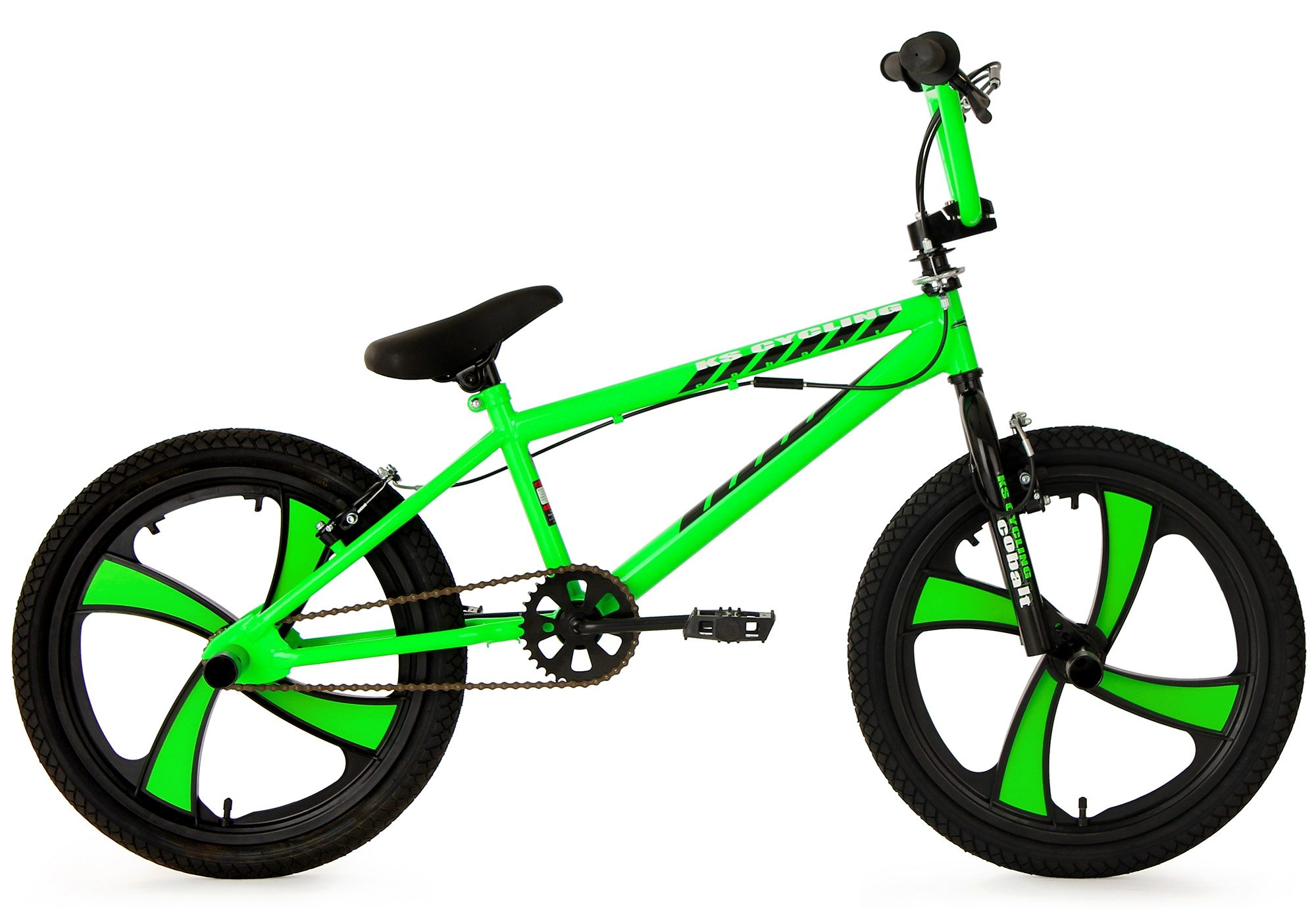 KS Cycling BMX-Rad Cobalt, 1 Gang grün Kinder Damenfahrräder Fahrräder Zubehör