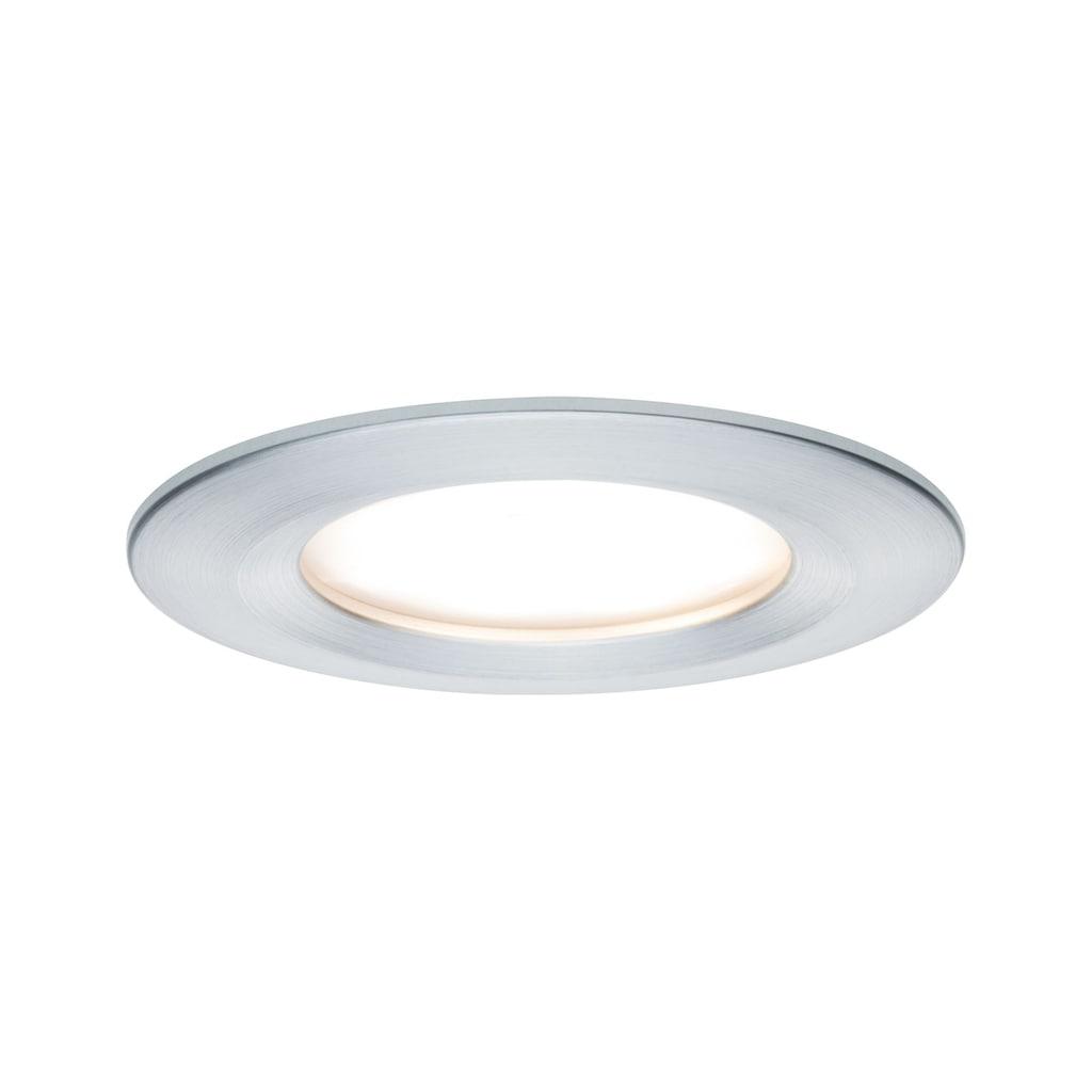 Paulmann LED Einbaustrahler »1er-Set dimmbar Coin Slim IP44 rund 6,8W Alu«, 1 St., Warmweiß