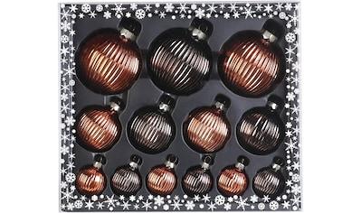 MAGIC by Inge Weihnachtsbaumkugel »Shiny Chestnut«, (Set, 13 St.), hochwertiger... kaufen
